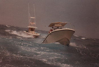 Whole 'lotta shaking going on!  The MARC VI and Spin-Off in the teeth of the storm.